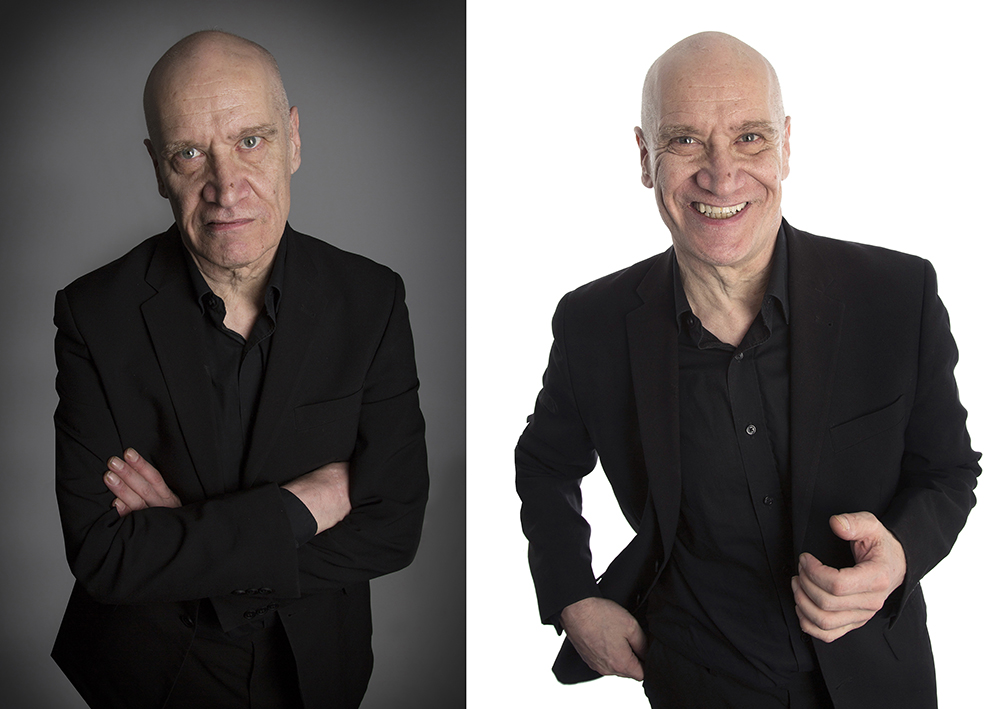 Two photographs of Wilko Johnson