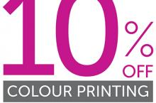 10% off colour printing