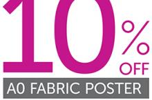 10% off A0 fabric posters